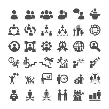 Illustration for business icon set, vector eps10. - Royalty Free Image