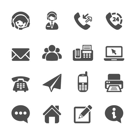 Illustration pour contact us icon set - image libre de droit