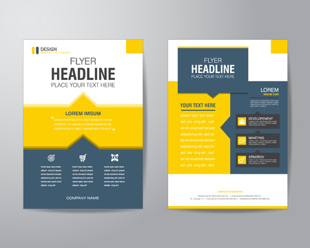 Ilustración de business brochure flyer design layout template in A4 size, with bleed, vector eps10. - Imagen libre de derechos