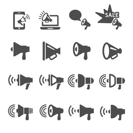 Illustration pour megaphone in action icon set 2,   - image libre de droit