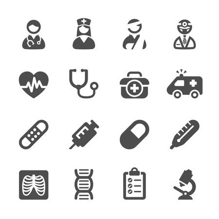 Illustration pour medical icon set  - image libre de droit