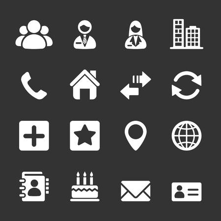Illustration pour contact icon set, vector  - image libre de droit