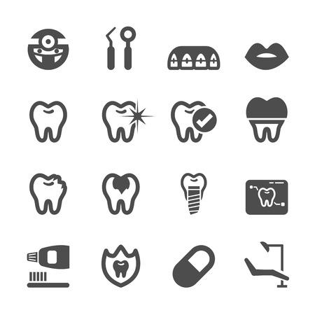 Illustration pour dental and medical icon set, vector   - image libre de droit