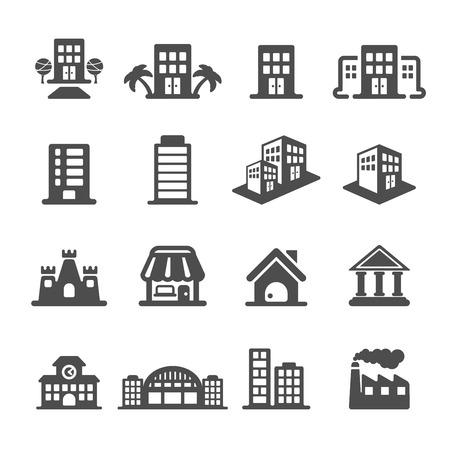 Illustration pour building icon set, vector eps10. - image libre de droit