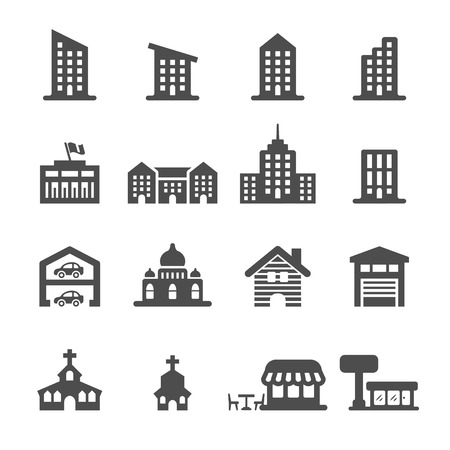 Photo for building icon set 3, vector . - Royalty Free Image