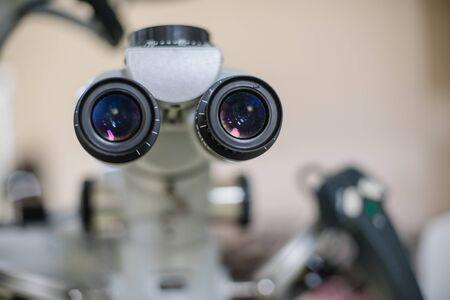 Foto de Eye examination for treatment patients in the hospital. - Imagen libre de derechos