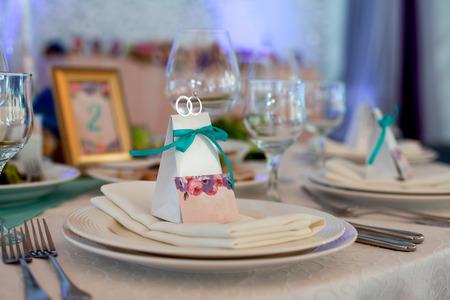 Foto de Set up wedding table - Imagen libre de derechos