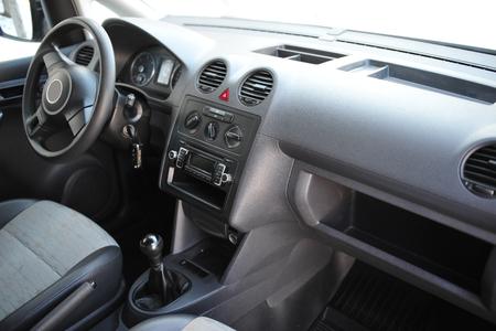 Foto de interior of a modern car with steering wheel - Imagen libre de derechos