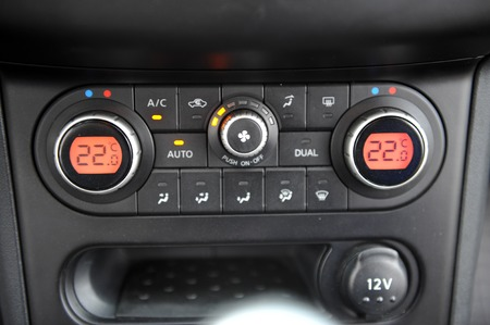 Photo for controls near the steering wheel in a modern car - Royalty Free Image