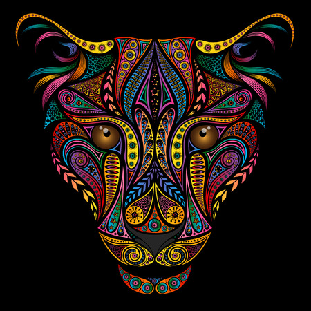 Illustrazione per Color leopard from beautiful various patterns - Immagini Royalty Free