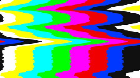 Illustration pour No signal TV test pattern. Digital glitch distortion. Vector illustration. - image libre de droit