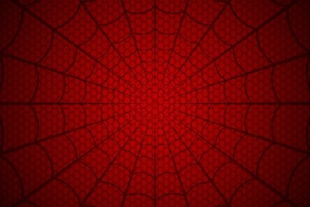 Ilustración de Black web on a red cellular background. Spider's web vector. - Imagen libre de derechos