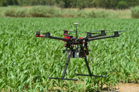 Foto de Hexacopter UAV drone in support of agriculture - Imagen libre de derechos