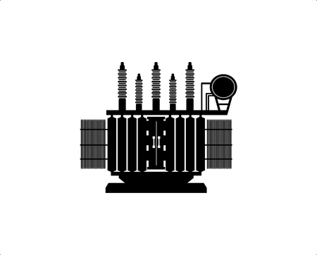 Ilustración de High Voltage Transformer on a white background. - Imagen libre de derechos