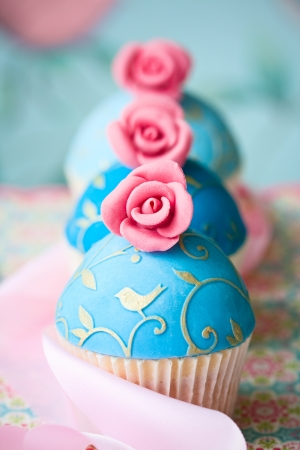 Photo for Vintage style cupcakes - Royalty Free Image