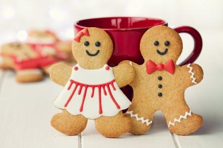 Photo pour Gingerbread couple - image libre de droit