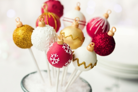Foto de Christmas cake pops - Imagen libre de derechos