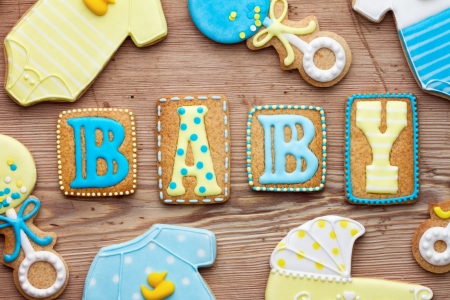 Photo pour Baby shower cookies - image libre de droit