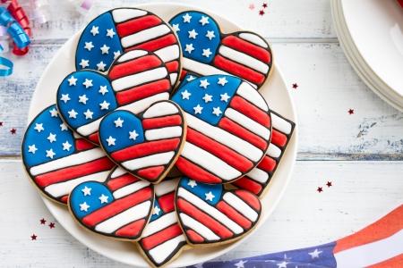 Photo pour Patriotic cookies - image libre de droit