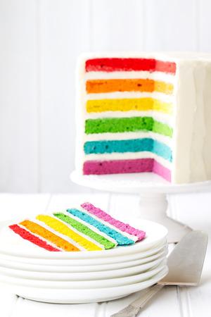 Photo pour Rainbow layer cake - image libre de droit