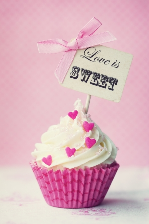 Photo for Valentine cupcake - Royalty Free Image