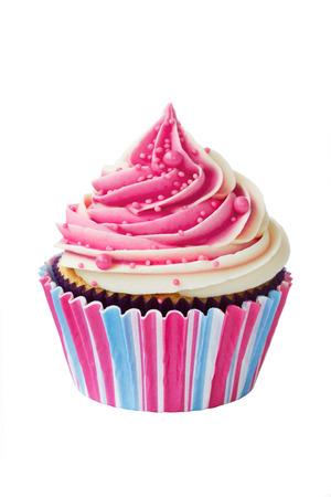 Photo for Raspberry ripple cupcake - Royalty Free Image