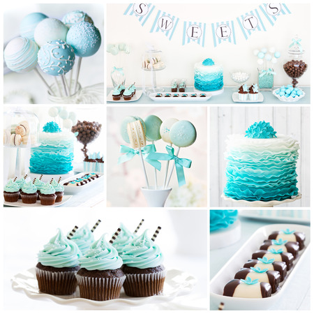 Photo for Collection of dessert table images - Royalty Free Image