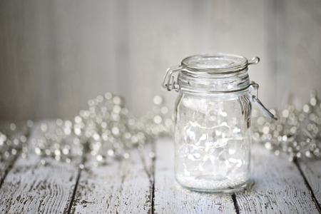 Photo for Fairy lights in a jar - Royalty Free Image
