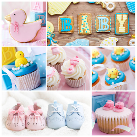 Photo for Collection of baby shower images - Royalty Free Image