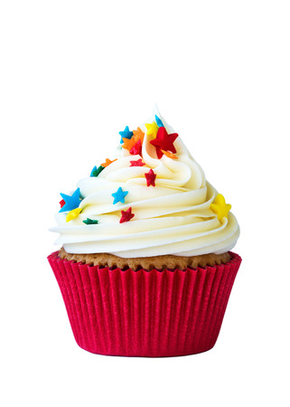 Photo pour Cupcake isolated on white - image libre de droit
