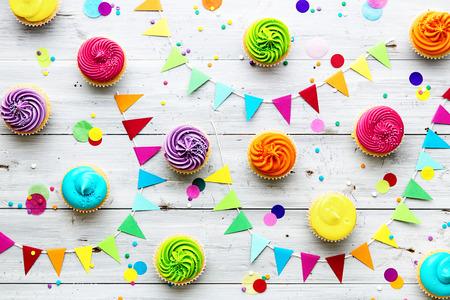 Foto de Cupcake party background - Imagen libre de derechos