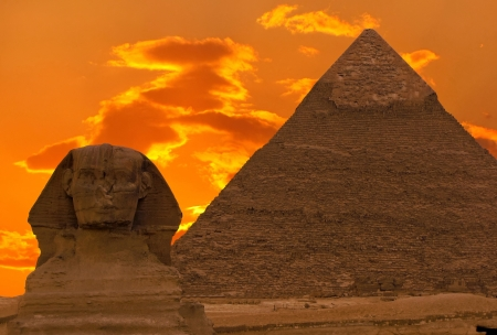 Photo for The Sphinx and Great Pyramid, Egypt - Royalty Free Image