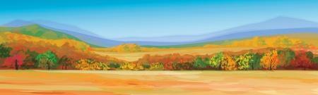 Illustration pour Vector of autumn landscape  - image libre de droit