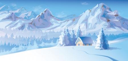 Illustration pour winter landscape  - image libre de droit