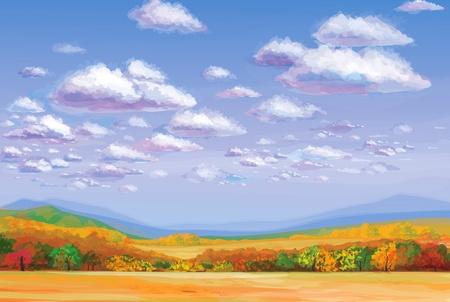 Illustration pour autumn landscape  - image libre de droit