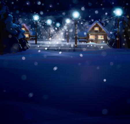 Illustration pour winter landscape. Merry Christmas! - image libre de droit