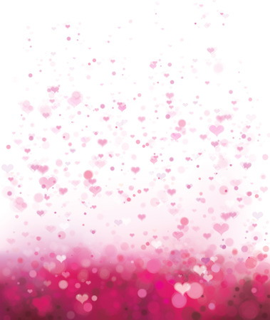 Vector pink background with hearts for Valentine's day design.