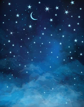 Ilustración de night starry sky. - Imagen libre de derechos