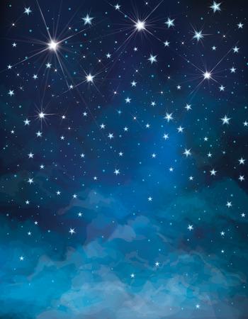 Illustration pour Vector night starry sky background  - image libre de droit