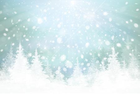 Illustration pour Vector winter background.  - image libre de droit