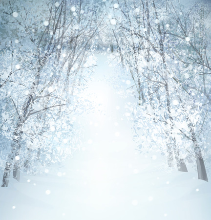 Illustration pour Vector winter snow landscape. - image libre de droit
