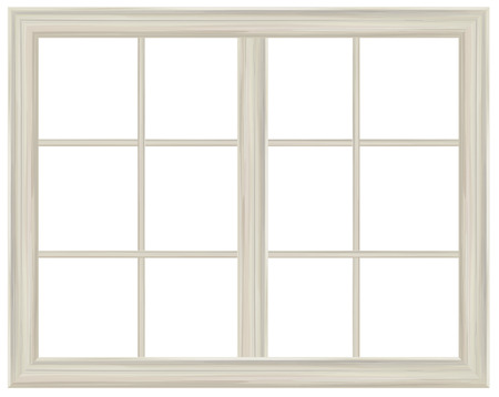 Illustration for Vector window frame isolated. - Royalty Free Image
