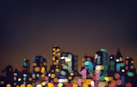 Illustration pour bokeh night city background. - image libre de droit