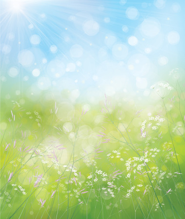 Illustration for Vector spring nature background. - Royalty Free Image