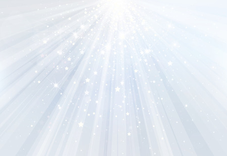 Illustration pour Vector blue background with rays, stars and lights. - image libre de droit