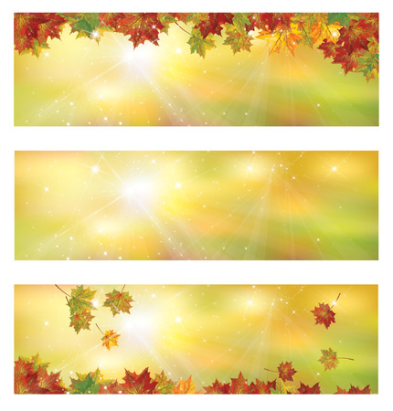 Vector autumn banners.