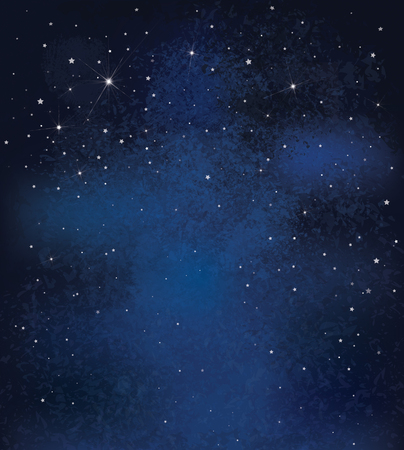 Illustration pour Vector night starry sky background. - image libre de droit