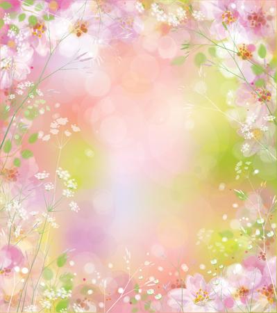 Ilustración de Vector spring floral background. - Imagen libre de derechos