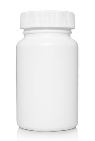 Foto de White medical container on white background  - Imagen libre de derechos