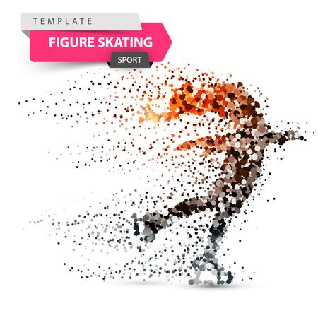 Ilustración de Figure skating - dot illustration. Sport template. Vector eps 10 - Imagen libre de derechos